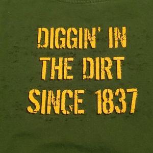 3/$20 John Deere green shirt sz Large